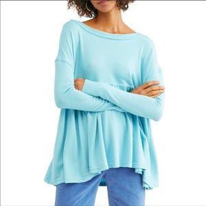 Free People Turquoise Mirage Top
